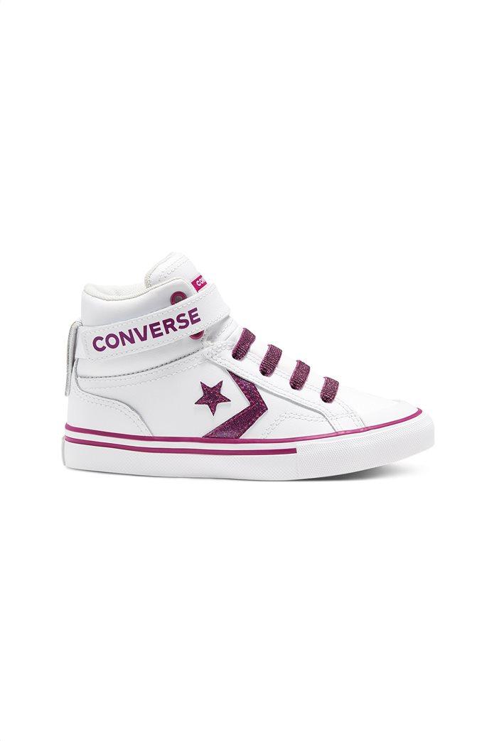 Converse παιδικά δερμάτικα μποτάκια με glitter ''Pro Blaze Strap Hi'' 0