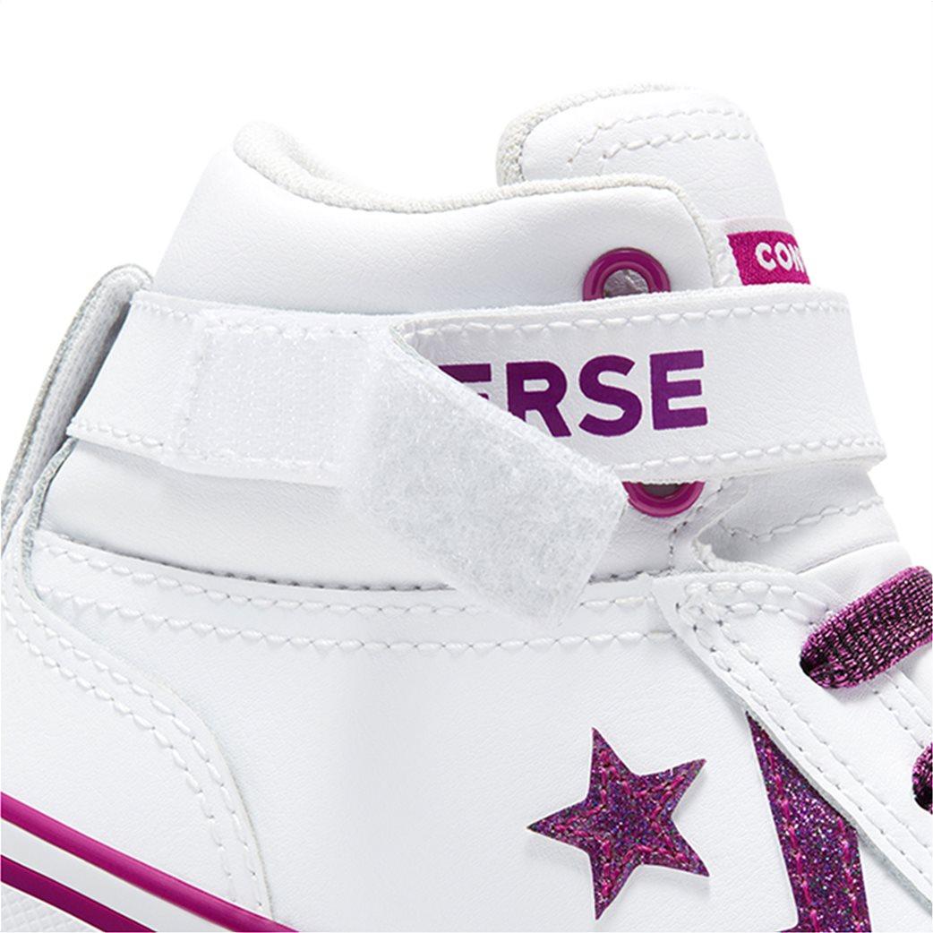 Converse παιδικά δερμάτικα μποτάκια με glitter ''Pro Blaze Strap Hi'' 5