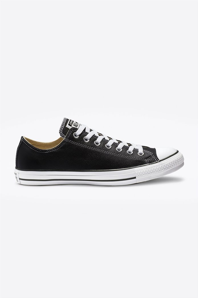 "Converse unisex δερμάτινα sneakers  ""Chuck Taylor All Star"" Μαύρο 0"