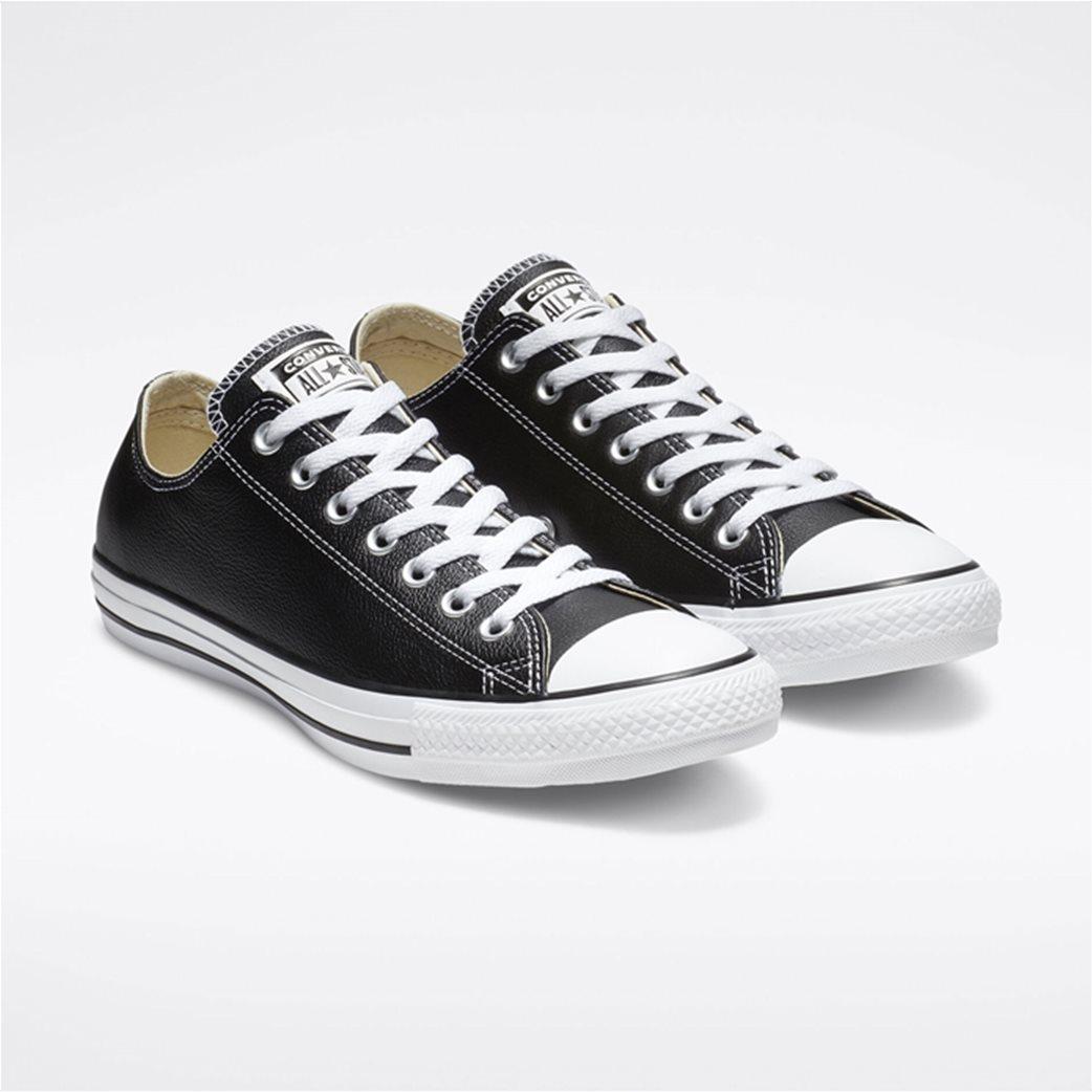 "Converse unisex δερμάτινα sneakers  ""Chuck Taylor All Star"" Μαύρο 1"