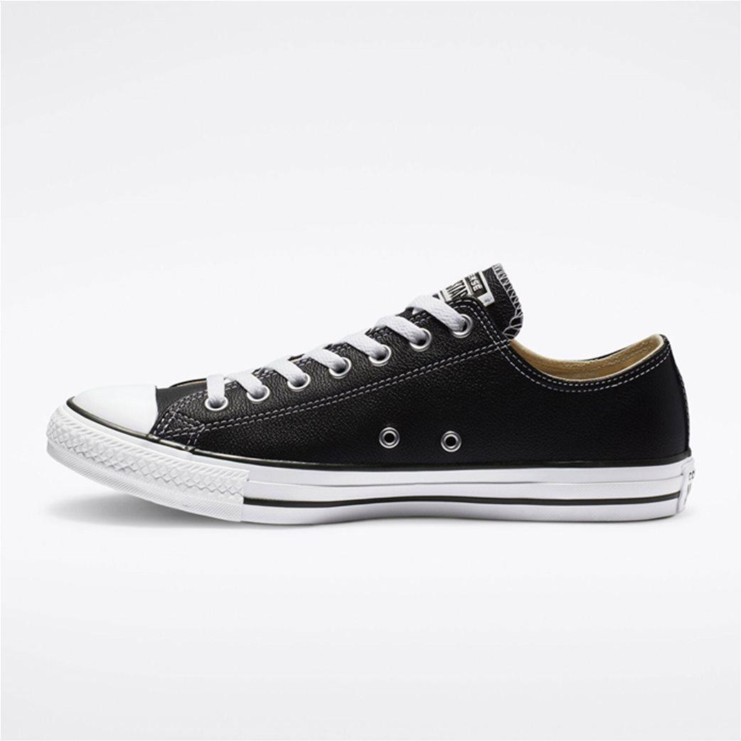 "Converse unisex δερμάτινα sneakers  ""Chuck Taylor All Star"" Μαύρο 2"