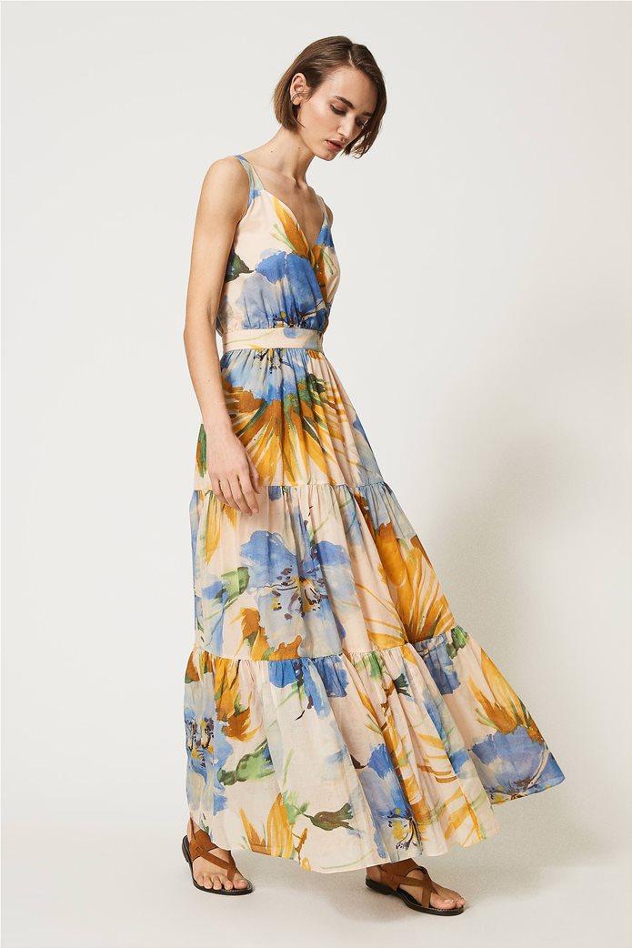 "Twinset γυναικείο maxi φόρεμα ""Hamal"" 1"