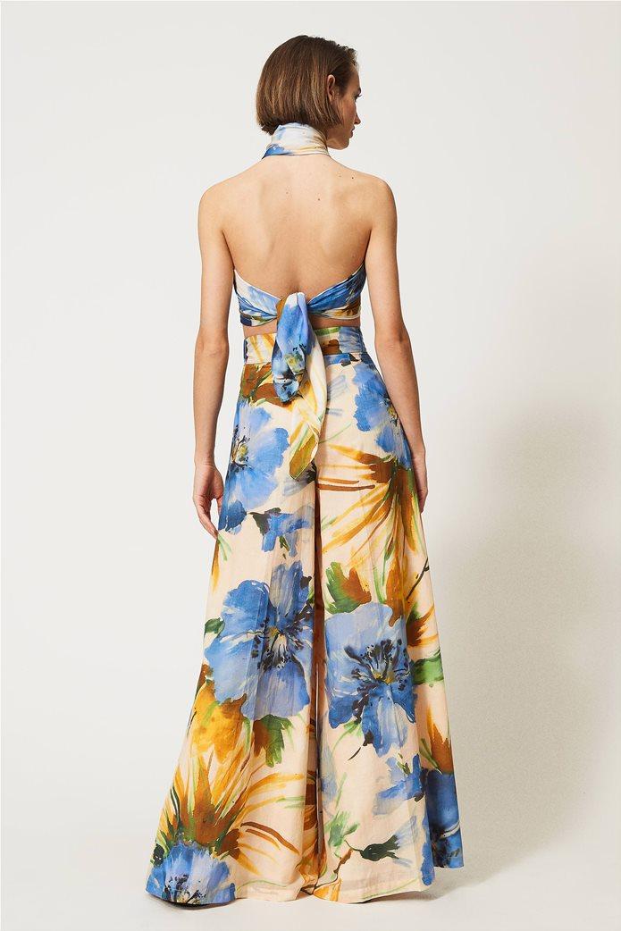 "Twinset γυναικεία παντελόνα ""Summer Hibiscus Print"" 2"