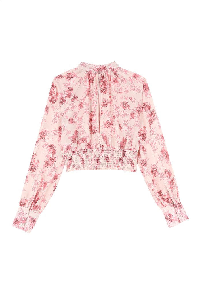 NA-KD γυναικεία μπλούζα με all-over floral print cropped 2