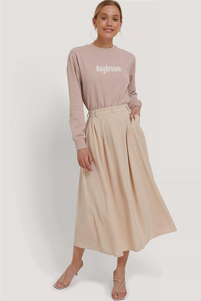 NA-KD γυναικεία midi φούστα μονόχρωμη με πιέτες 0