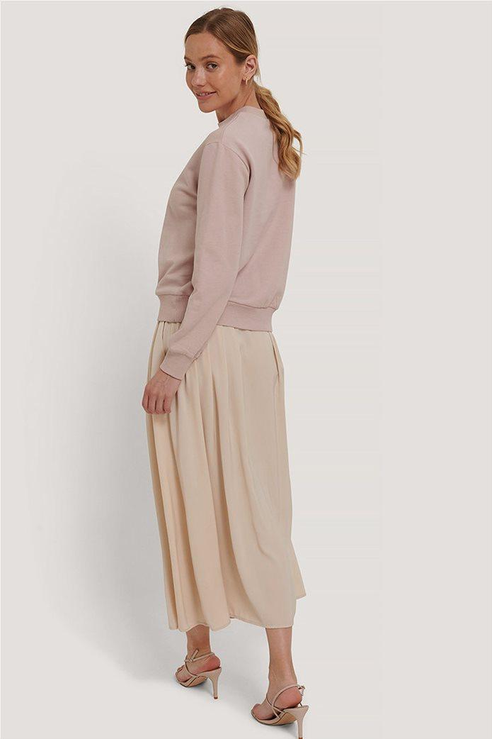 NA-KD γυναικεία midi φούστα μονόχρωμη με πιέτες 1
