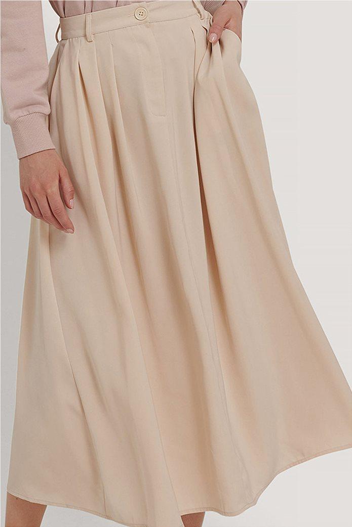 NA-KD γυναικεία midi φούστα μονόχρωμη με πιέτες 2
