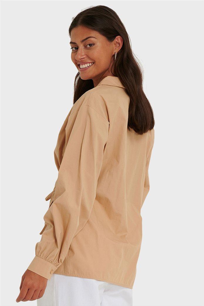 NA-KD γυναικείο πουκάμισο κρουαζέ Oversized Fit 1