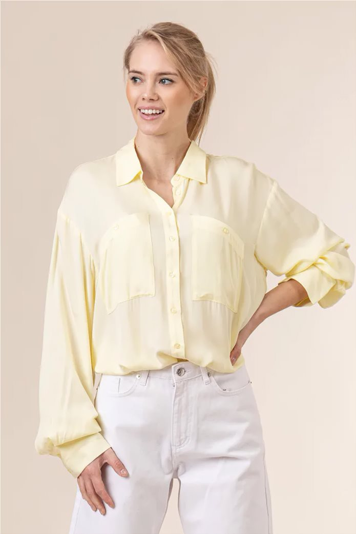 NA-KD γυναικείο πουκάμισο μονόχρωμο button-up Oversized Fit 0