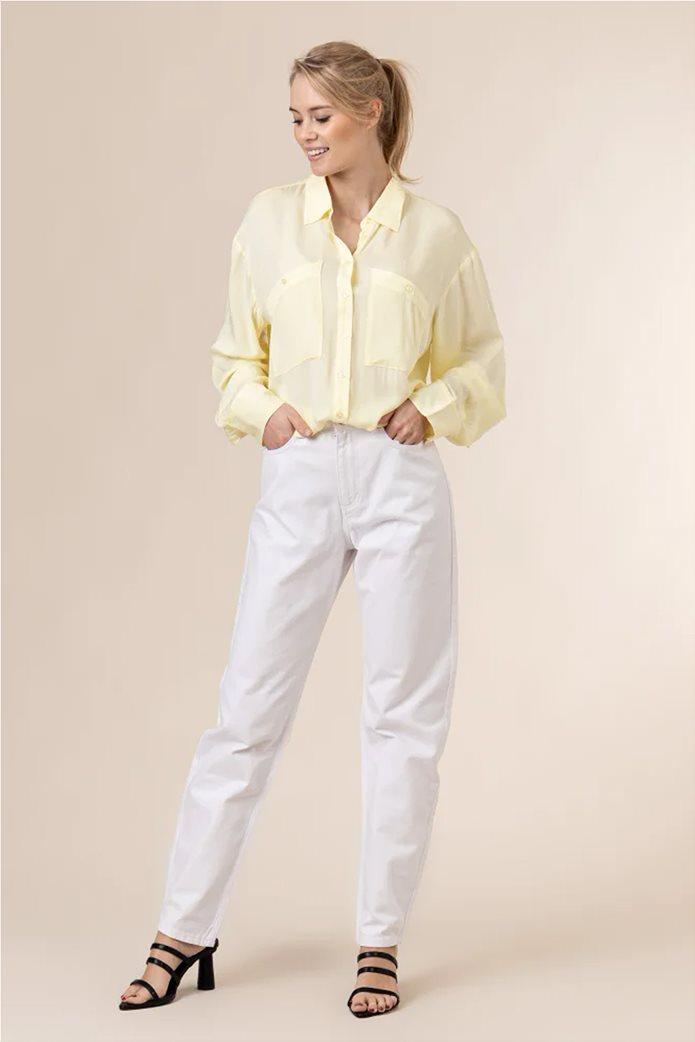 NA-KD γυναικείο πουκάμισο μονόχρωμο button-up Oversized Fit 1