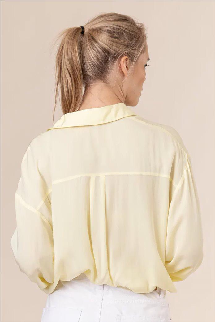 NA-KD γυναικείο πουκάμισο μονόχρωμο button-up Oversized Fit 2