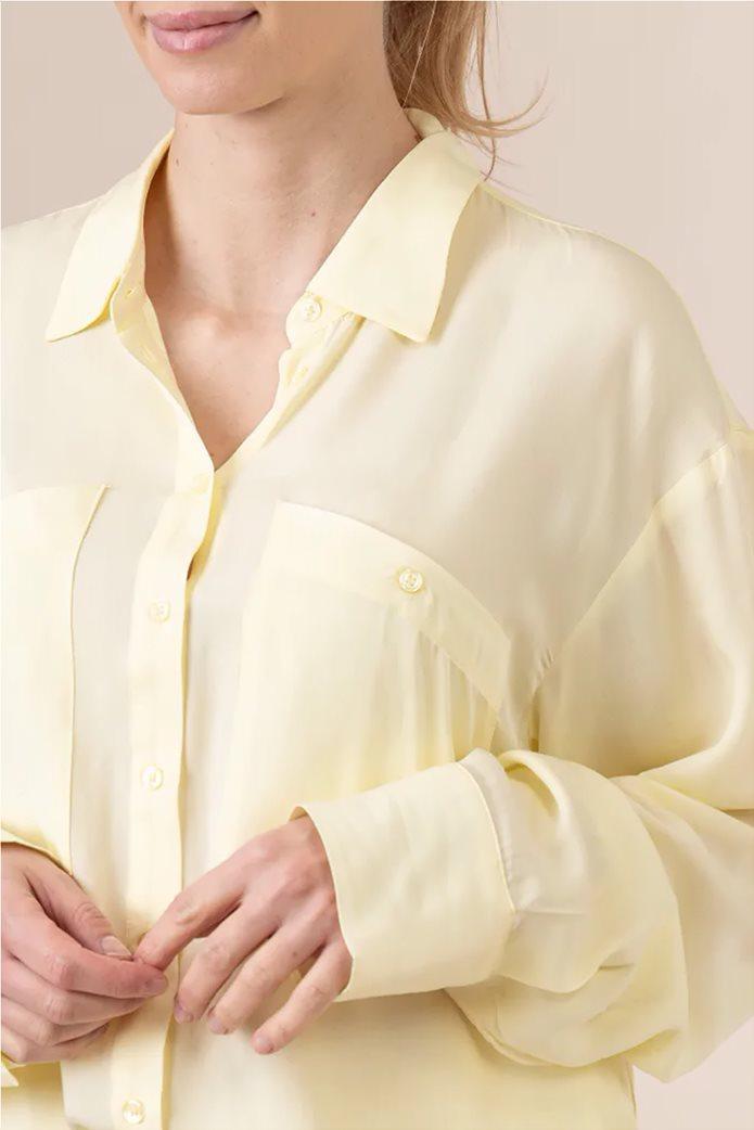 NA-KD γυναικείο πουκάμισο μονόχρωμο button-up Oversized Fit 3