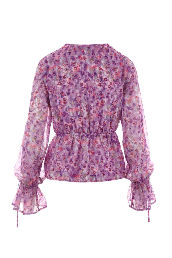 NA-KD γυναικεία μπλούζα κρουαζέ με all-over floral print Λιλά 1