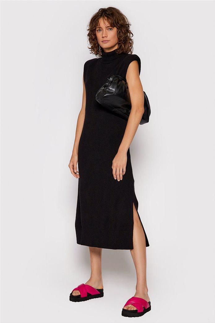 NA-KD γυναικείο midi φόρεμα με βάτες στους ώμους Μαύρο 0