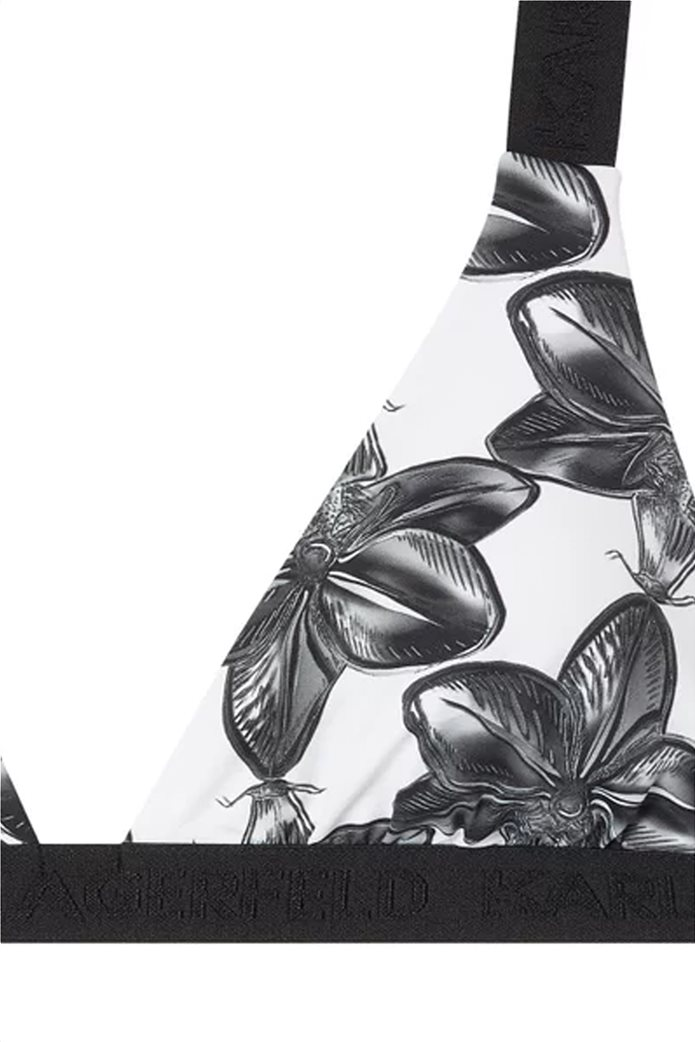 Karl Lagerfeld γυναικείο μαγιό μπικίνι top τρίγωνο με floral print 2
