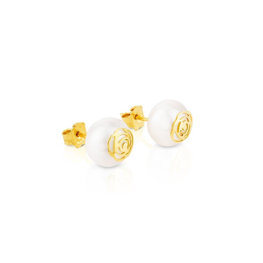 TOUS γυναικεία σκουλαρίκια Rosa d'Abril από χρυσό 3