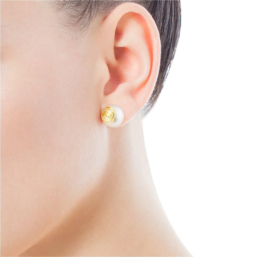 TOUS γυναικεία σκουλαρίκια Rosa d'Abril από χρυσό 4