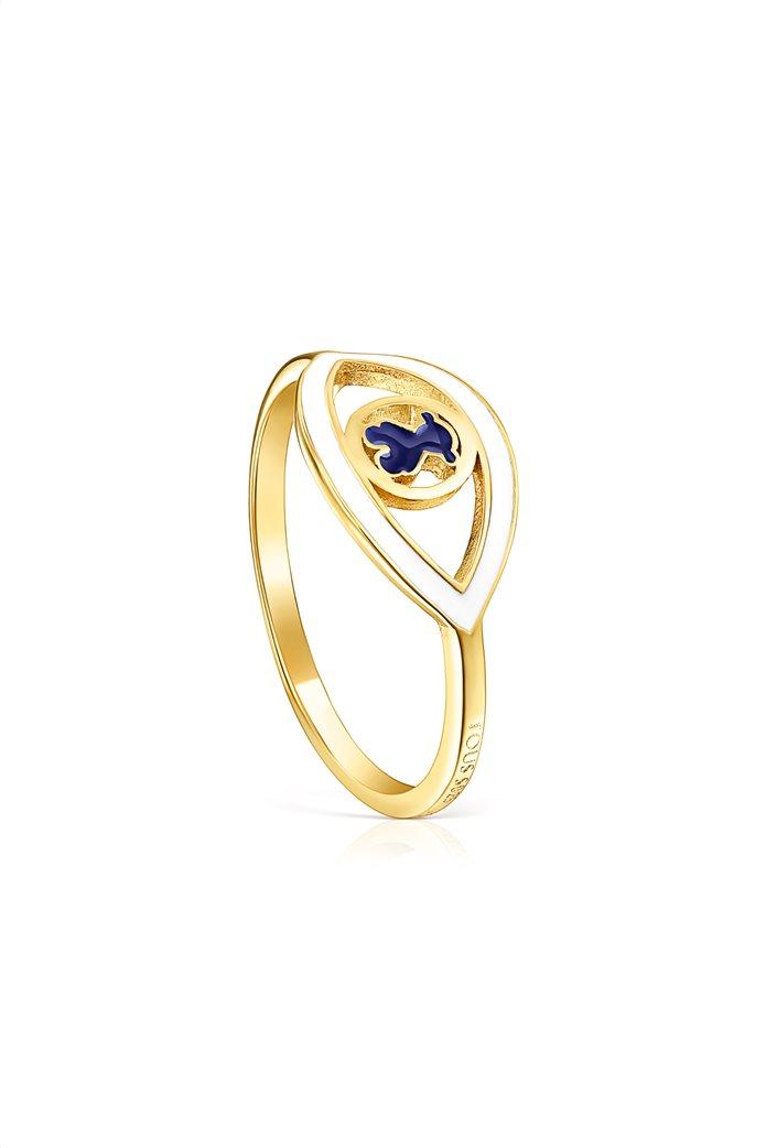 TOUS γυναικείο δαχτυλίδι μάτι TOUS Good Vibes από Ασήμι Vermeil 0