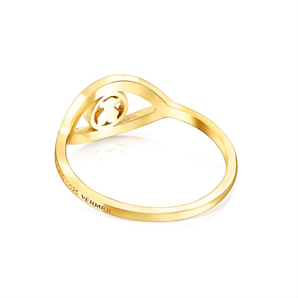 TOUS γυναικείο δαχτυλίδι μάτι TOUS Good Vibes από Ασήμι Vermeil 2