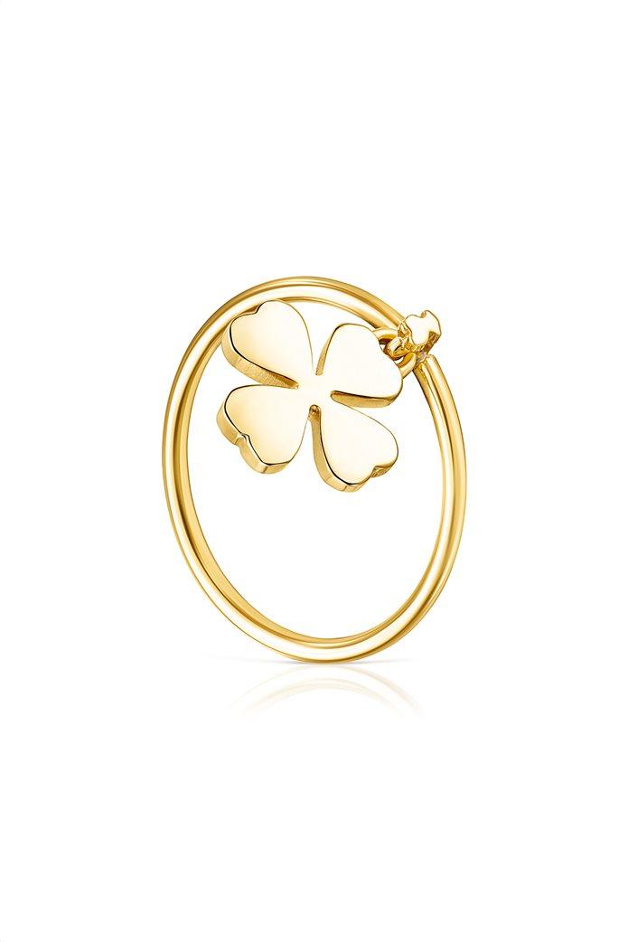 TOUS γυναικείο δαχτυλίδι τριφύλλι TOUS Good Vibes από Ασήμι Vermeil 0