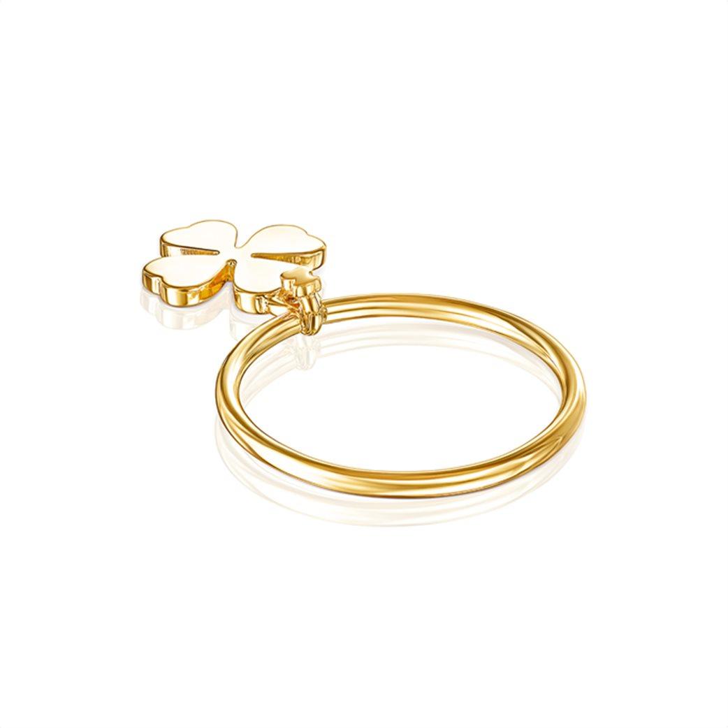 TOUS γυναικείο δαχτυλίδι τριφύλλι TOUS Good Vibes από Ασήμι Vermeil 2