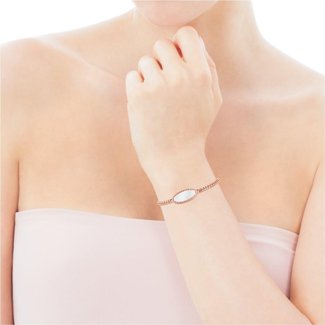 TOUS γυναικείο βραχιόλι δίχρωμο Minne από Ροζ Ασήμι Vermeil και Ασήμι 3