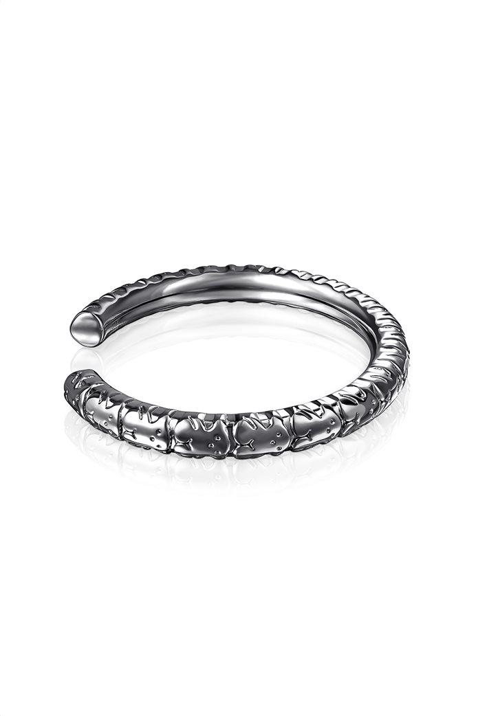 TOUS γυναικείο βραχιόλι Straight XL από ασήμι dark silver 1