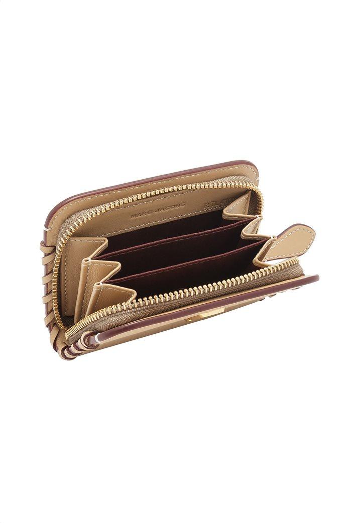 Marc Jacobs γυναικεία δερμάτινη θήκη για κάρτες με μεταλλικό λογότυπο  3