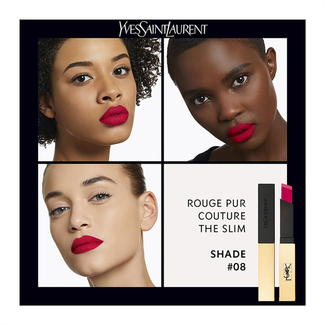 Yves Saint Laurent Rouge Pur Couture The Slim 8 Contrary Fuchsia  4