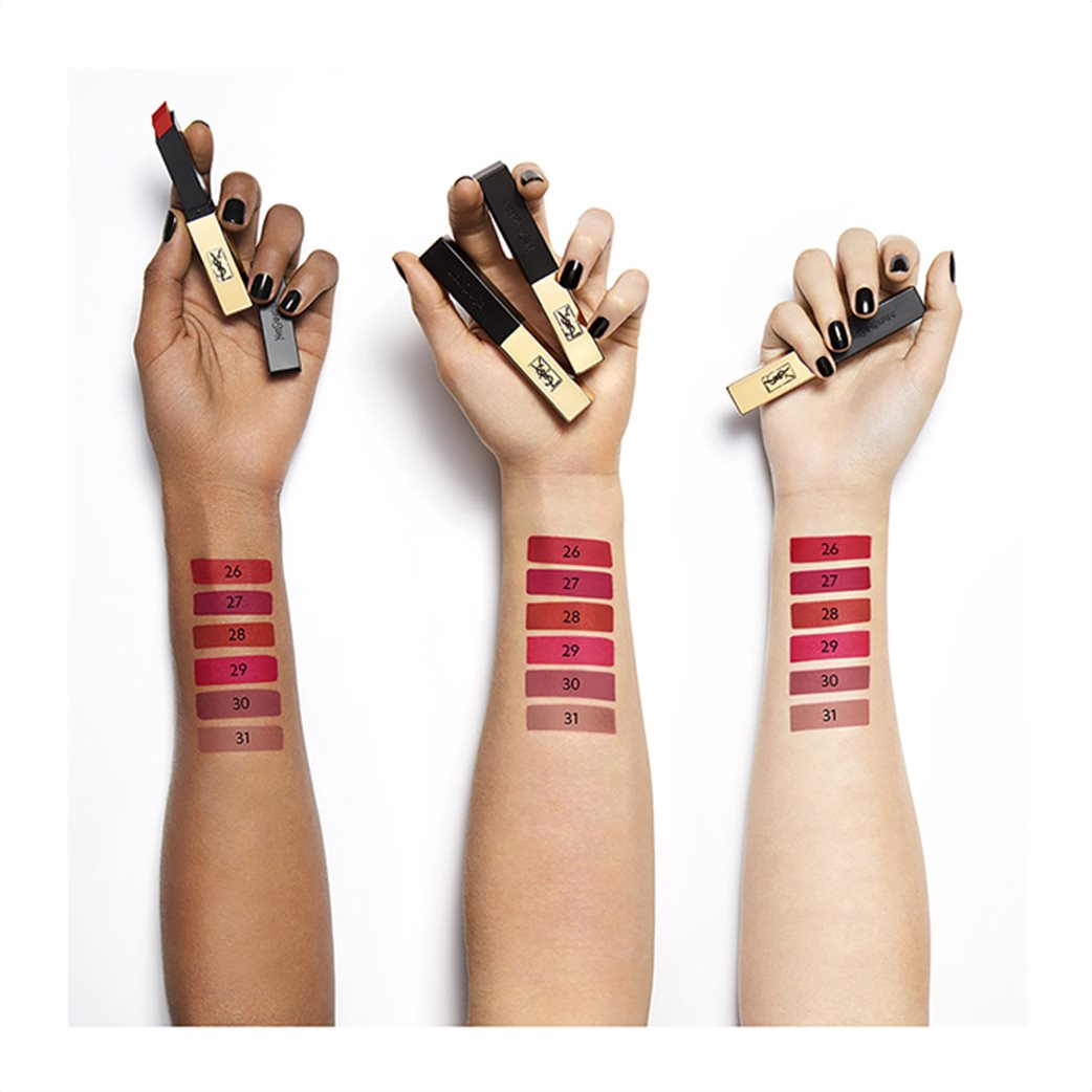 Yves Saint Laurent Rouge Pur Couture The Slim 22 Ironic Burgundy  4