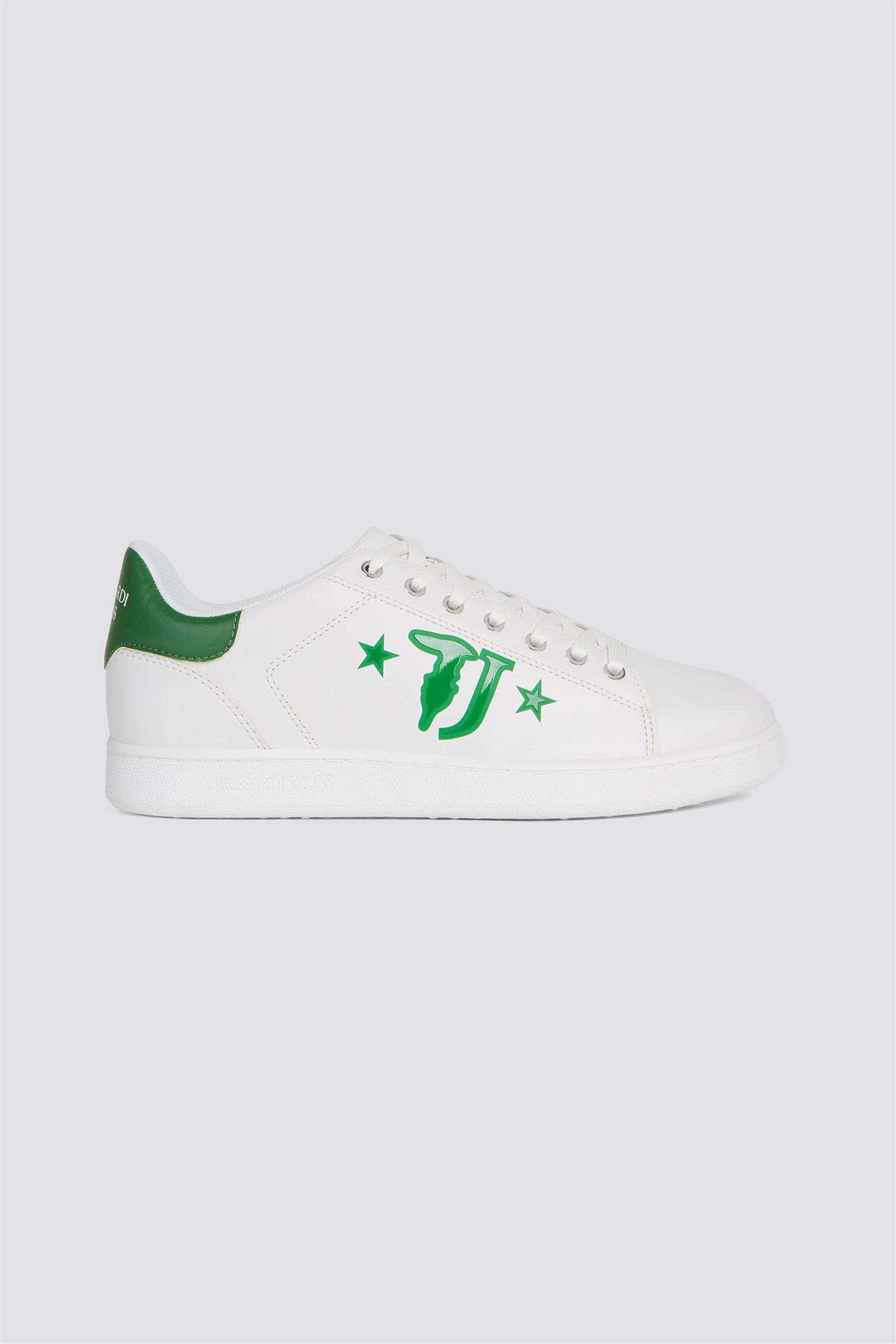 Trussardi ανδρικά sneakers με brand logo print στο πλάι – 77A00173-9Y099999 – Πράσινο