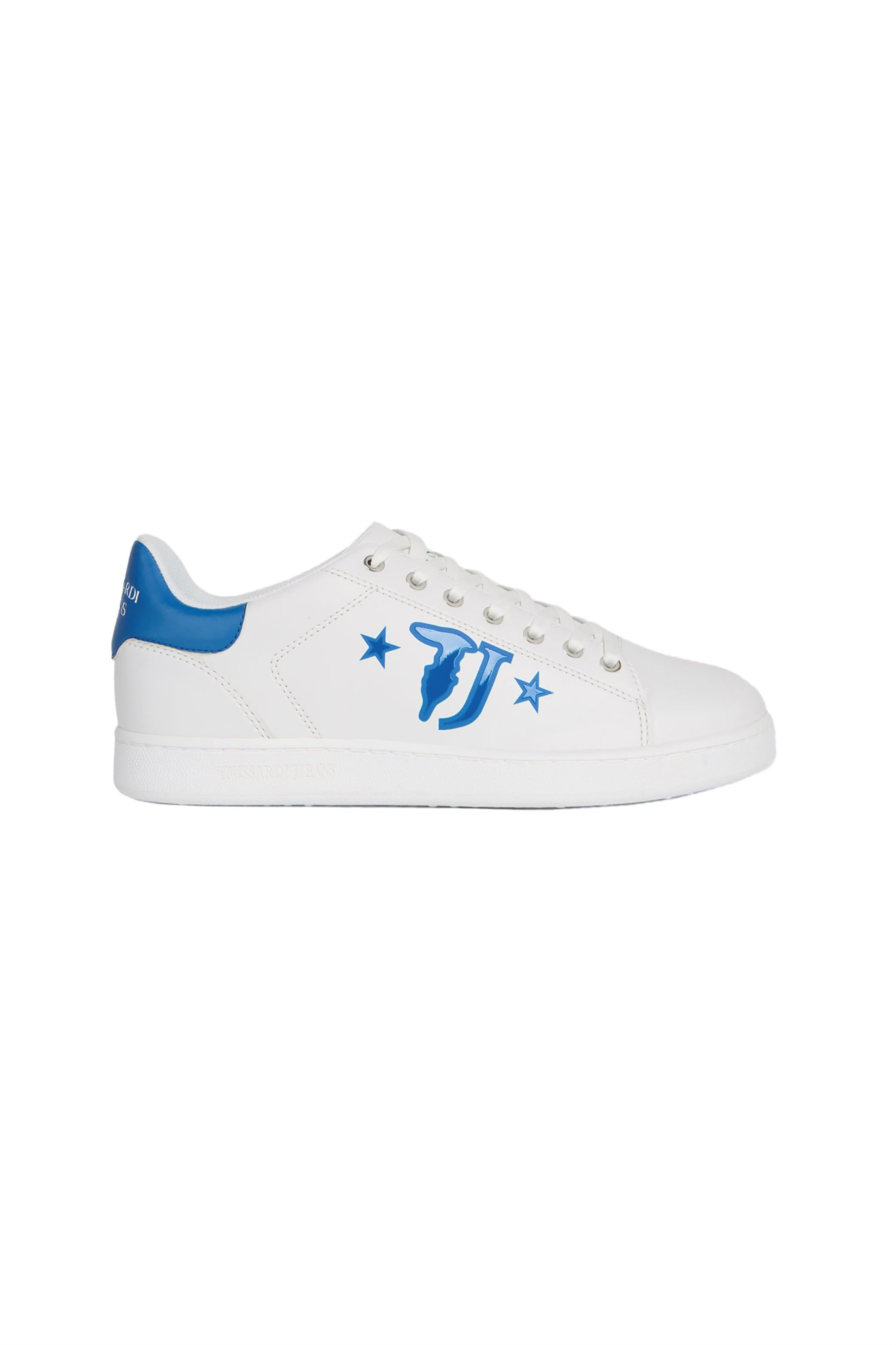Trussardi ανδρικά sneakers με brand logo print στο πλάι – 77A00173-9Y099999 – Μπλε Σκούρο