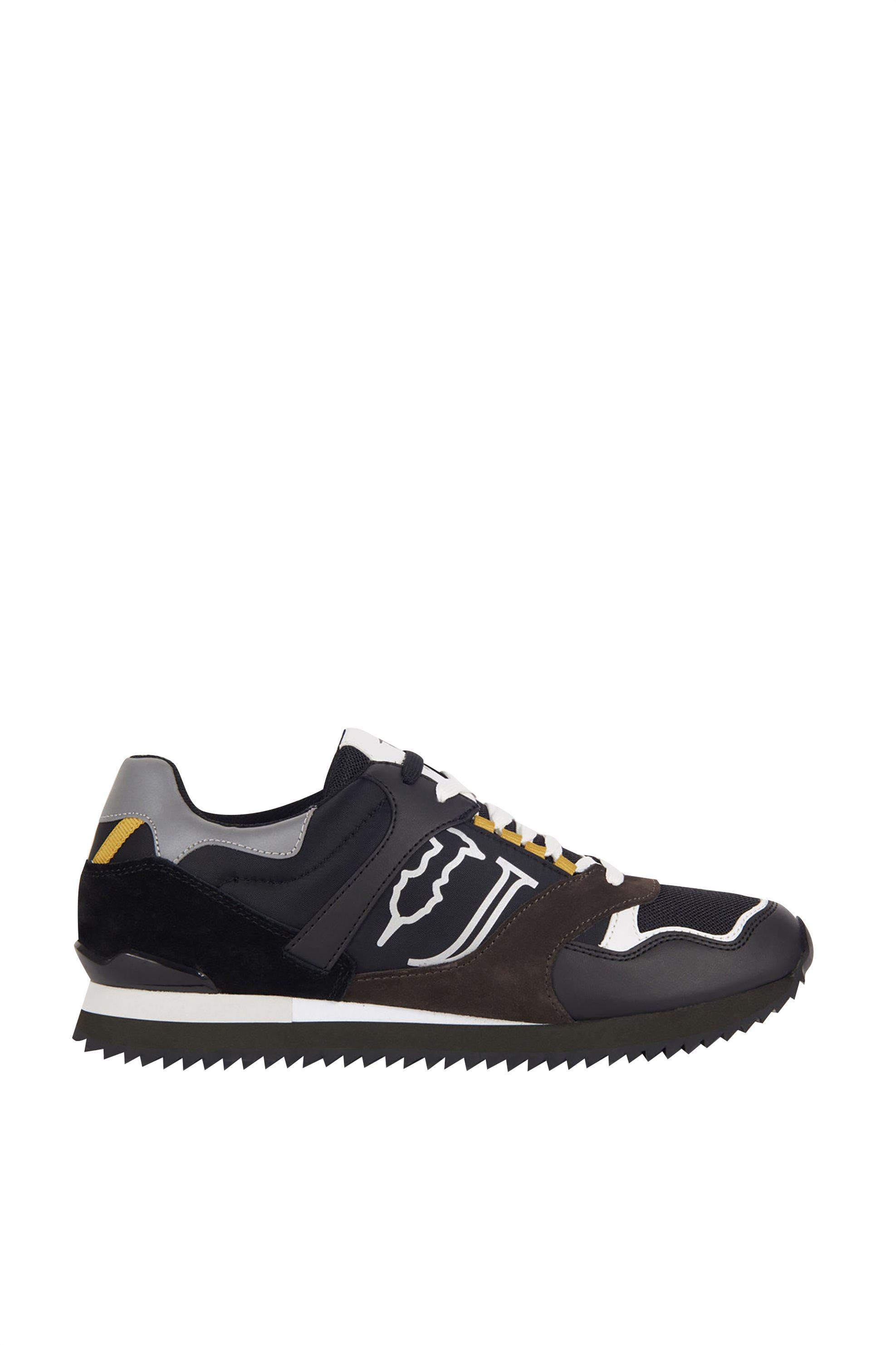 Trussardi Jeans ανδρικά sneakers με suede λεπτομέρειες – 77A00187-9Y099999 – Χακί