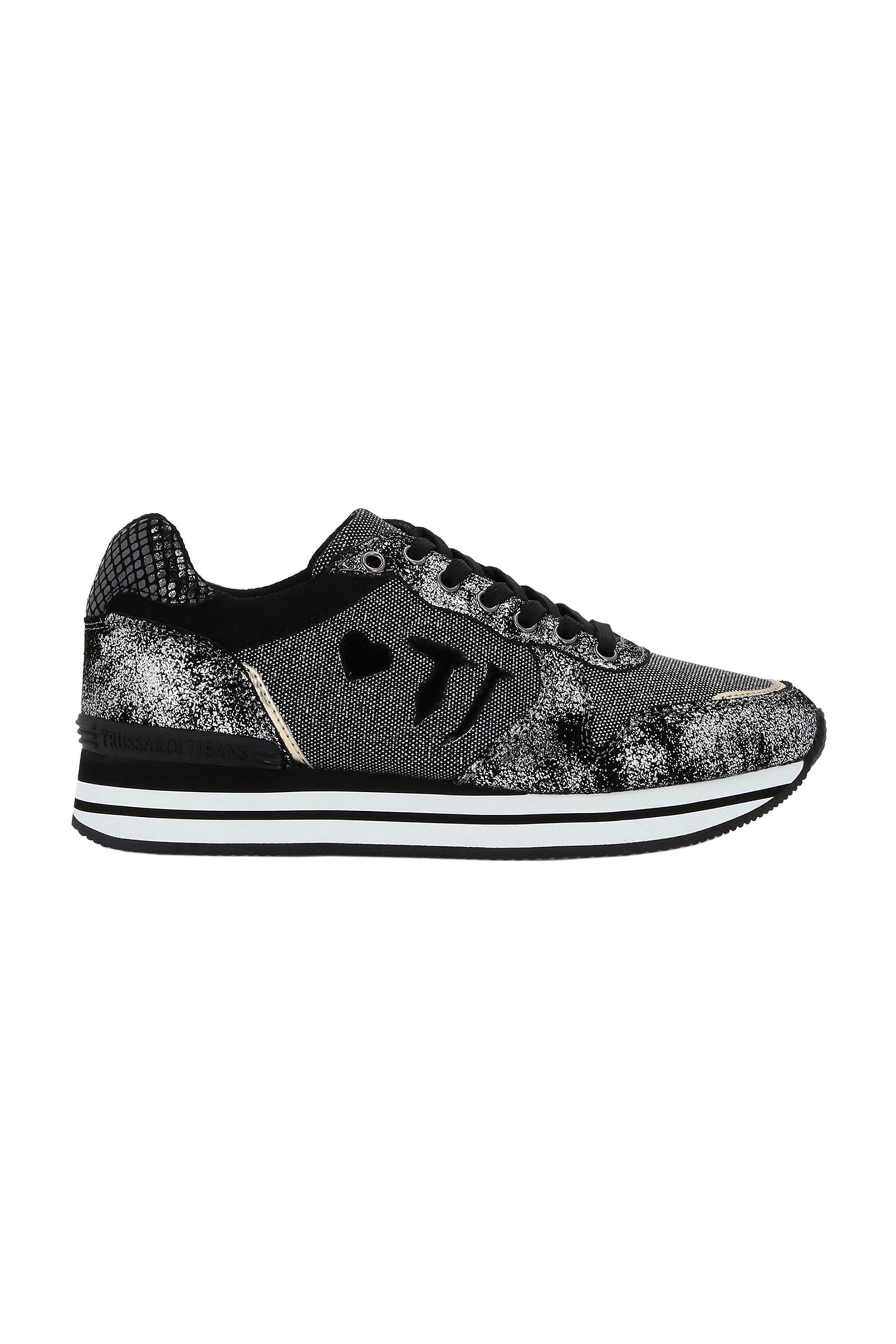 Trussardi γυναικεία sneakers με μεταλλικές λεπτομέρειες – 79A00245-9Y099999 – Μαυρο