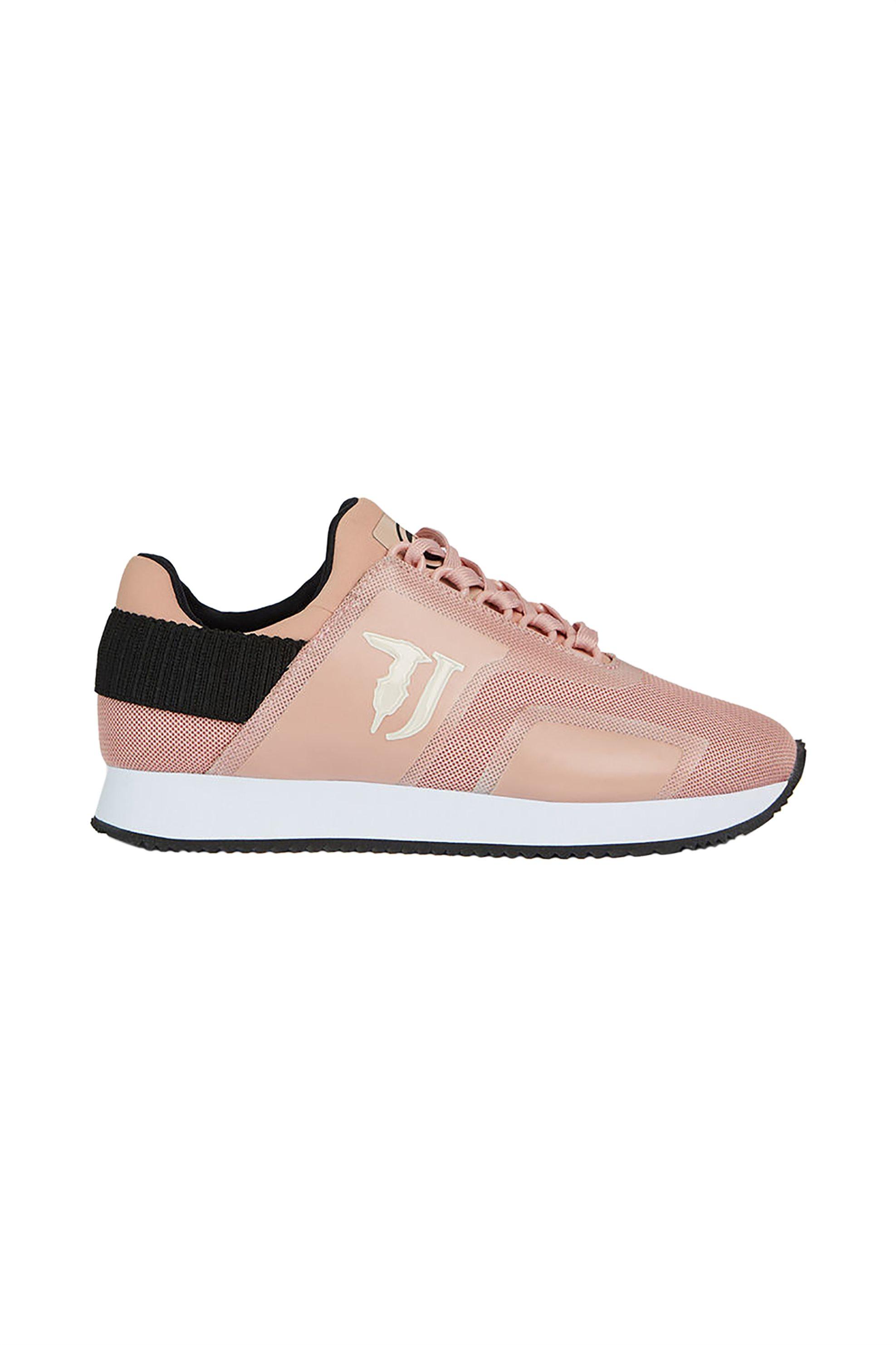 Trussardi Jeans γυναικεία sneakers με mesh ύφασμα Shiny – 79A00328-9Y099999 – Ροζ