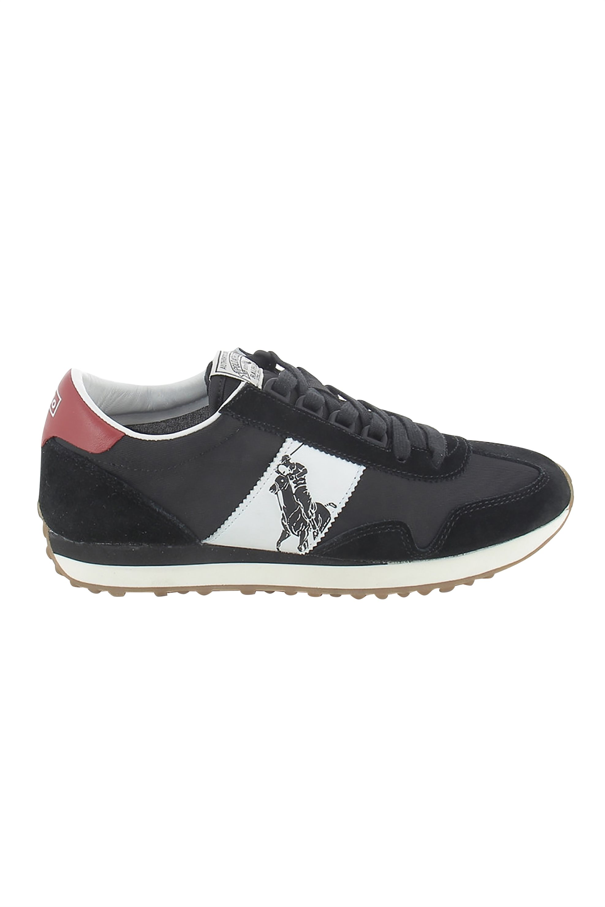 Polo Ralph Lauren ανδρικά sneakers με μεγάλο logo – 809755192007 – Μαύρο