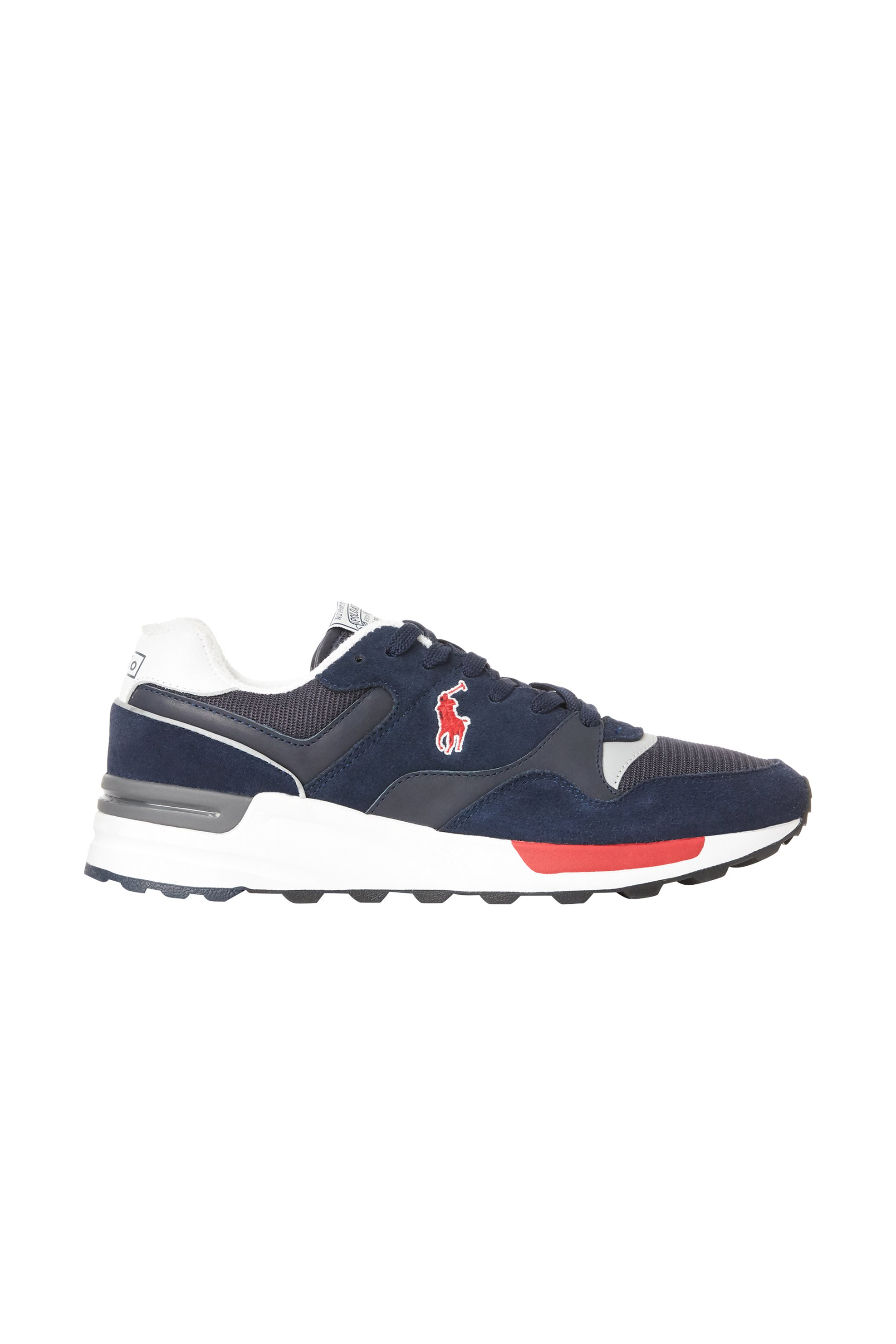 Polo Ralph Lauren ανδρικά suede sneakers με κορδόνια – 809773080001 – Μπλε Σκούρο