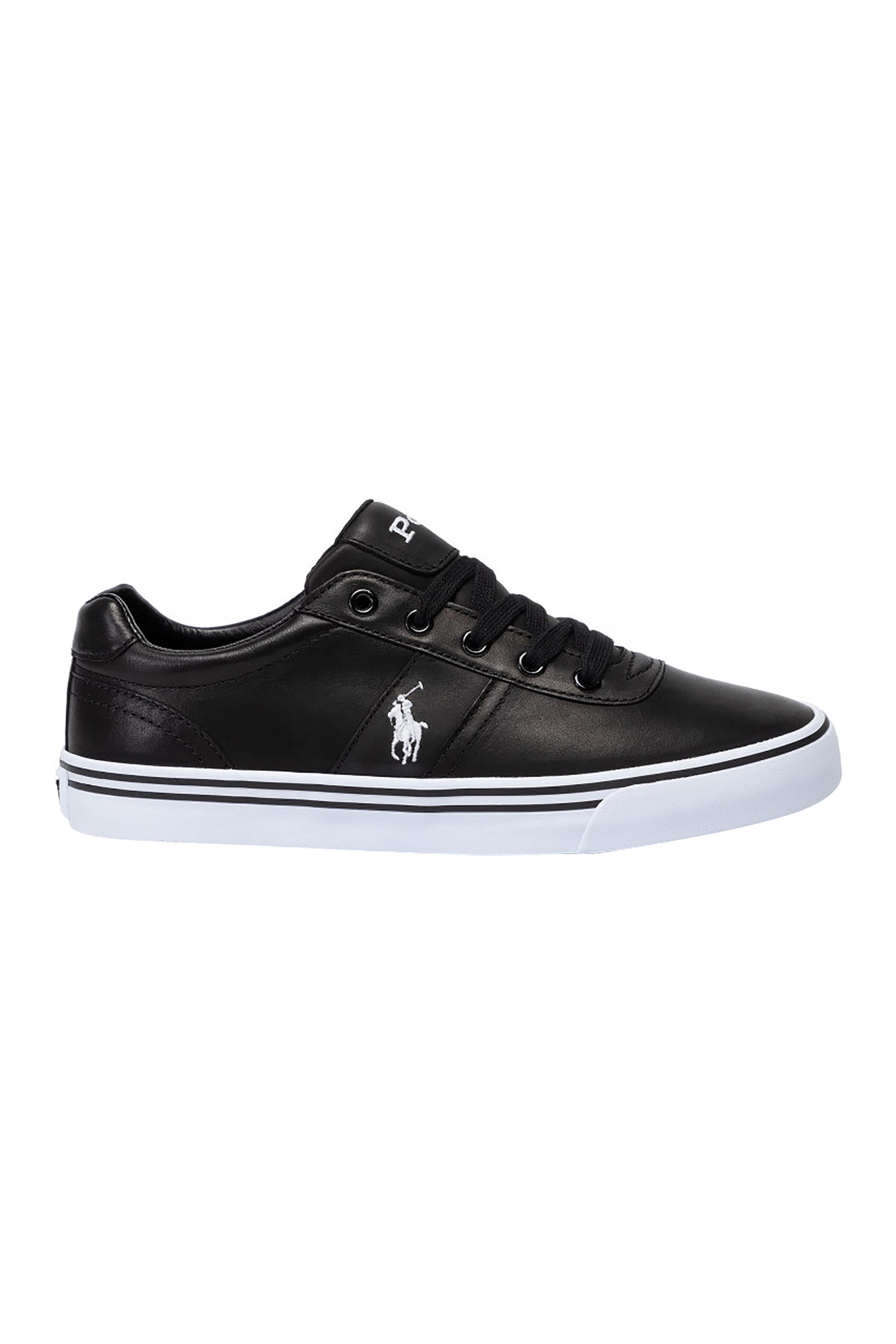 Polo Ralph Lauren ανδρικά δερμάτινα sneakers – 816765046003 – Μαύρο