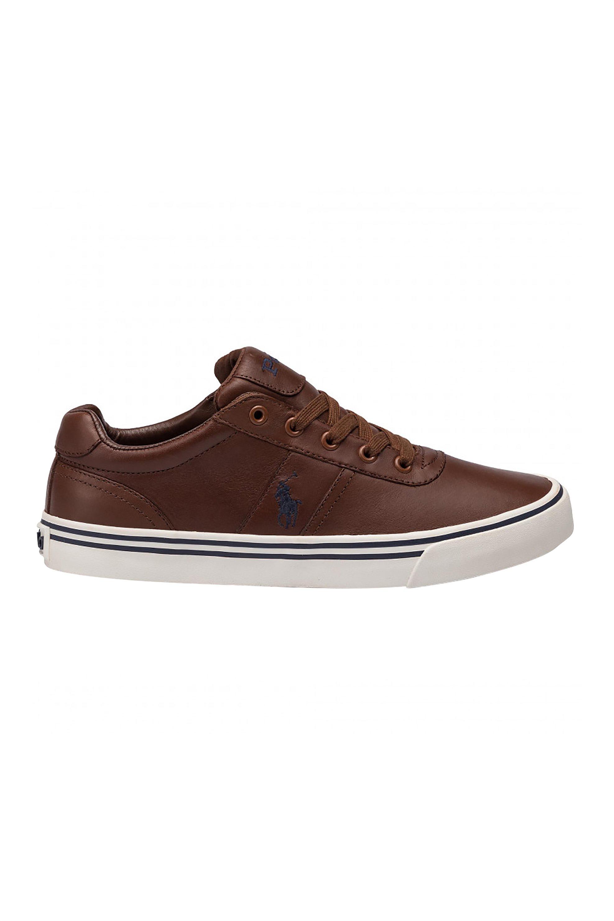 Polo Ralph Lauren ανδρικά δερμάτινα sneakers – 816765046004 – Καφέ