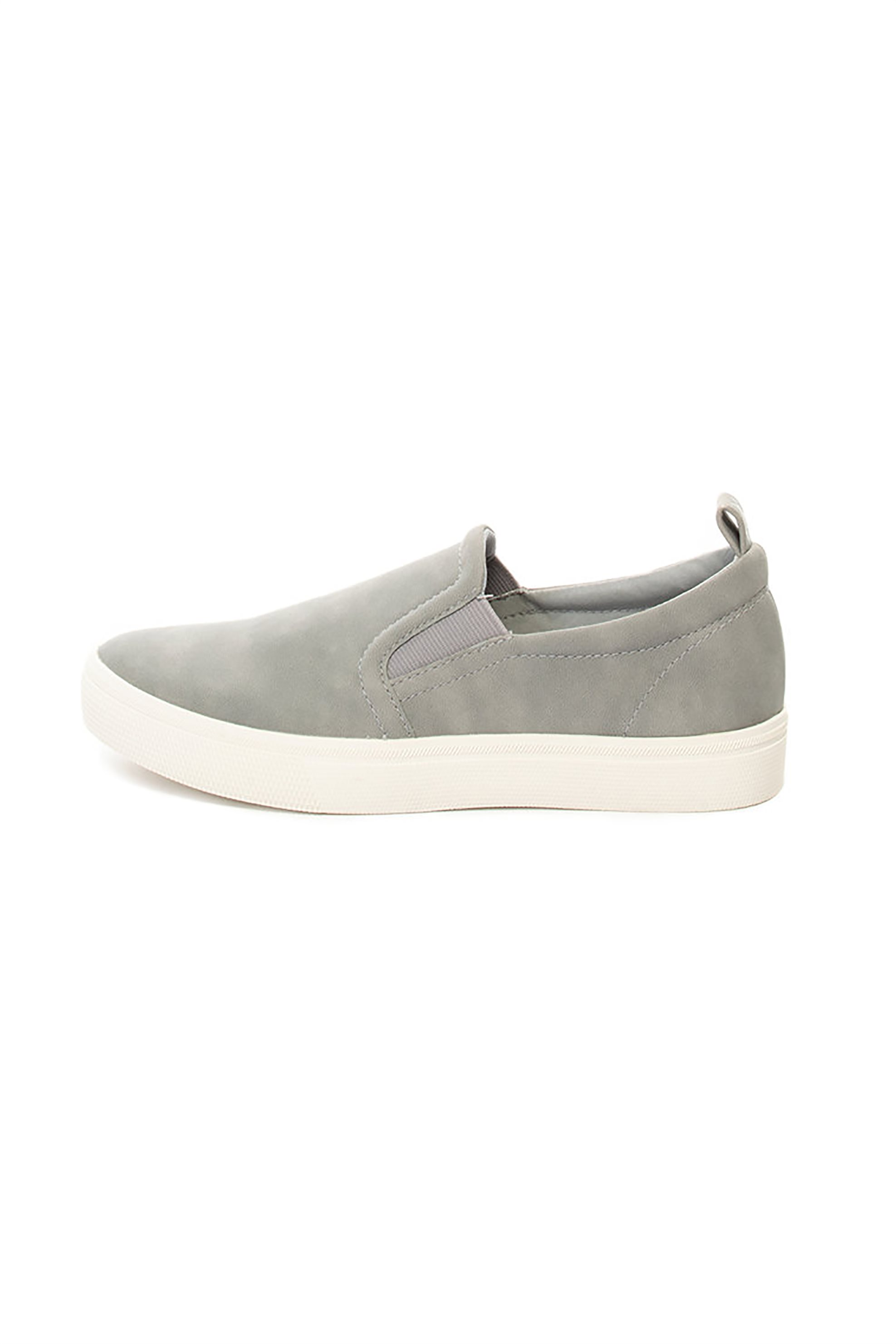 Esprit γυναικεία παπούτσια slip-on suede – 029EK1W011 – Γκρι