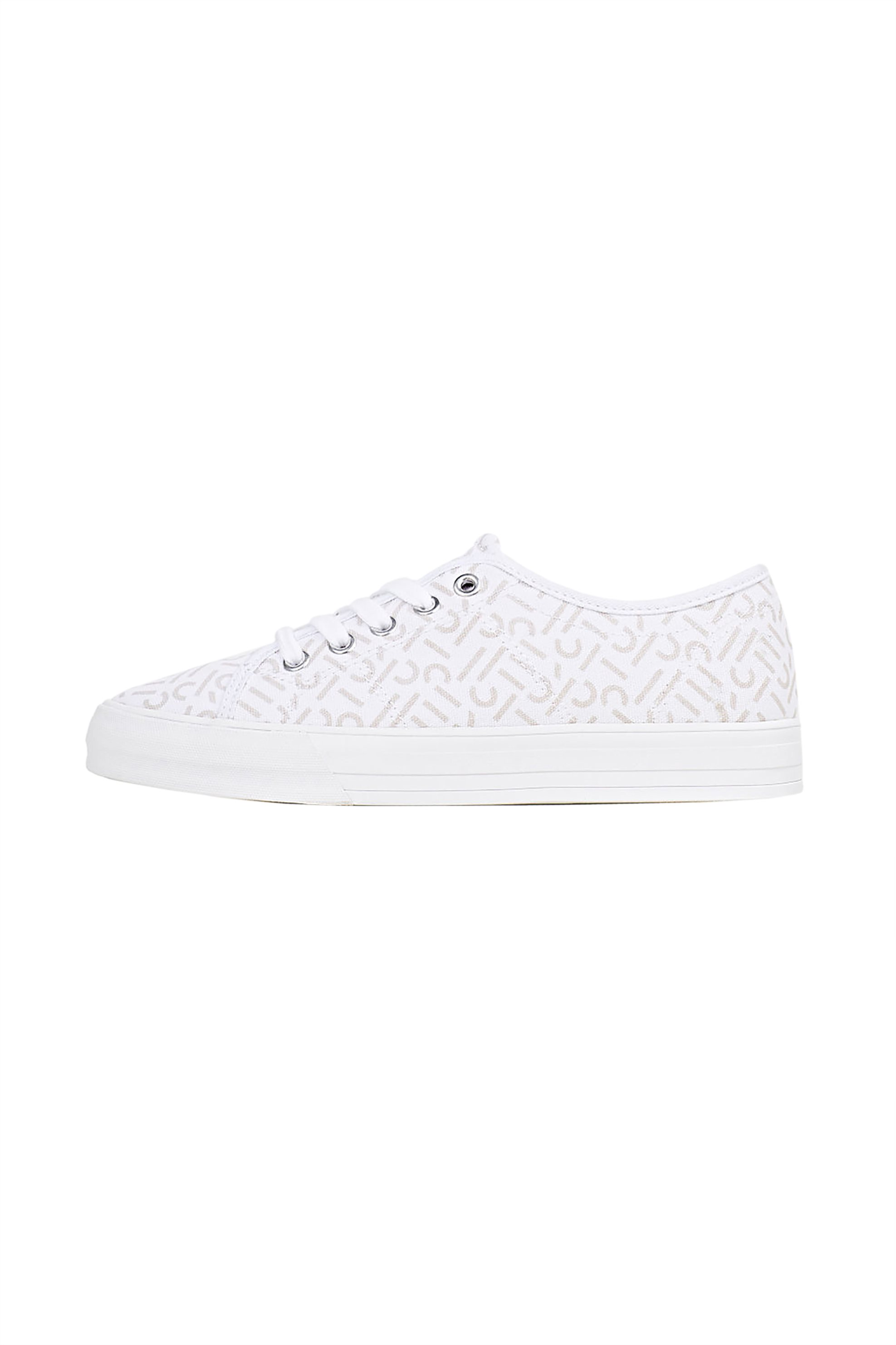 Esprit γυναικέια πάνινα sneakers με all-over logo print – 040EK1W329 – Λευκό