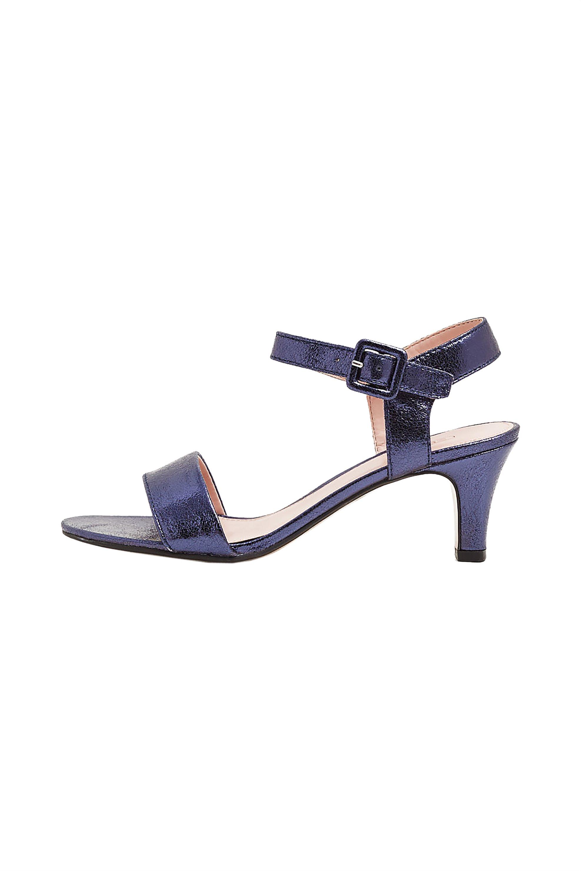 Esprit γυναικεία πέδιλα μεταλλιζέ - 049EK1W012 - Μπλε Σκούρο