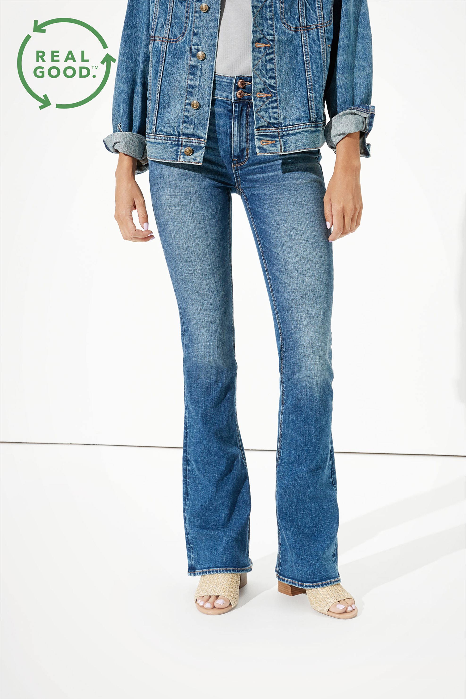 AE High-Waisted Artist Flare Jean - 1435-2850-851 - Μπλε