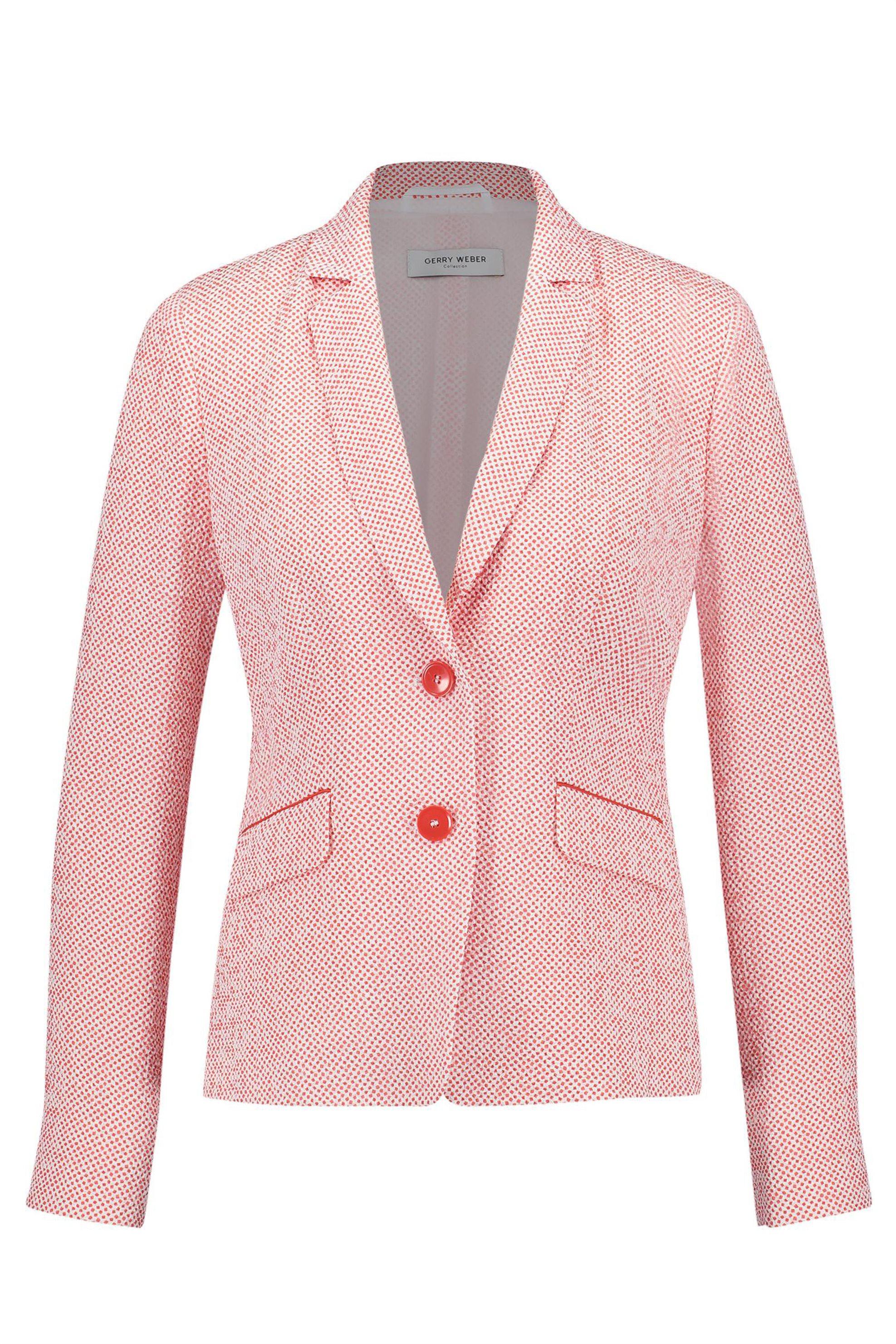 Gerry Weber γυναικείο σακάκι με μικροσχέδιο πουά - 730041-38328 - Ροζ