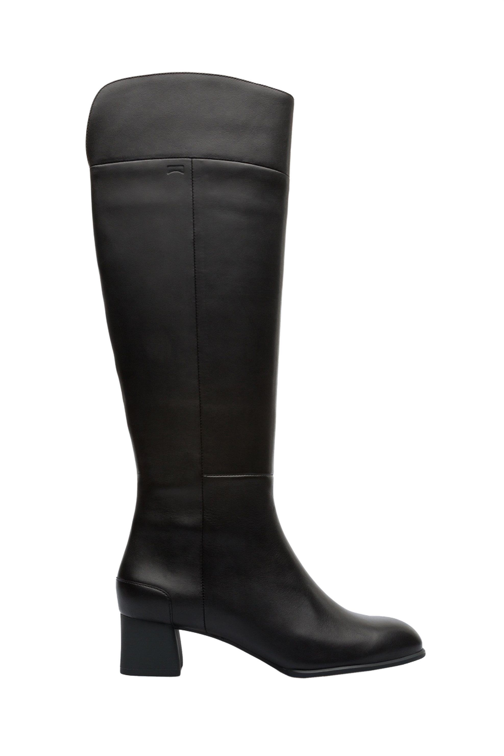 Camper γυναικείες δερμάτινες μπότες μέχρι το γόνατο Katie - K400340-001 - Μαύρο