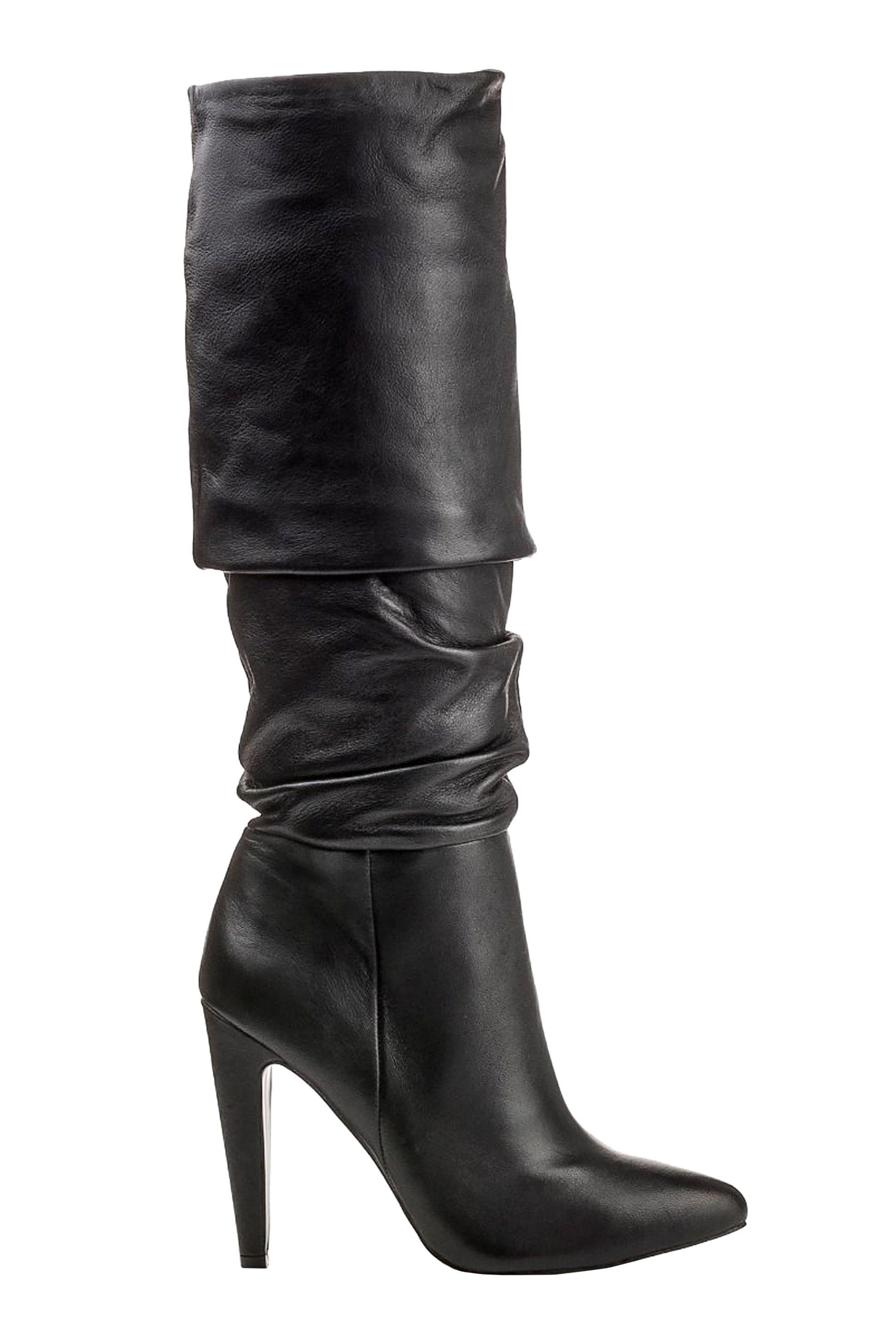 Steve Madden γυναικεία δερμάτινη μποτά CARRIE – 218744-CARRIE(LT) – Μαύρο
