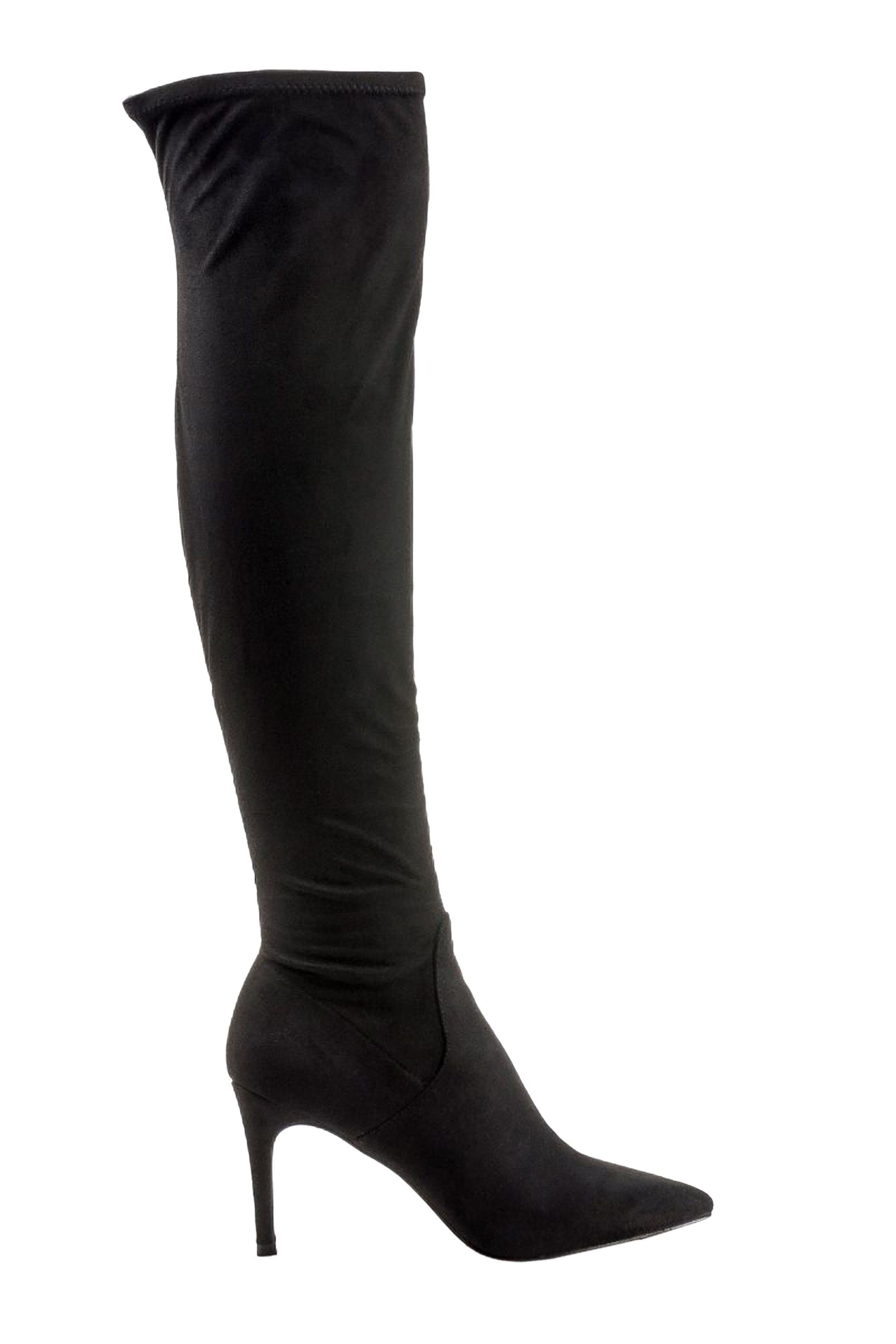 Steve Madden γυναικεία μποτά over the knee LACIE – 218744-LACIE – Μαύρο