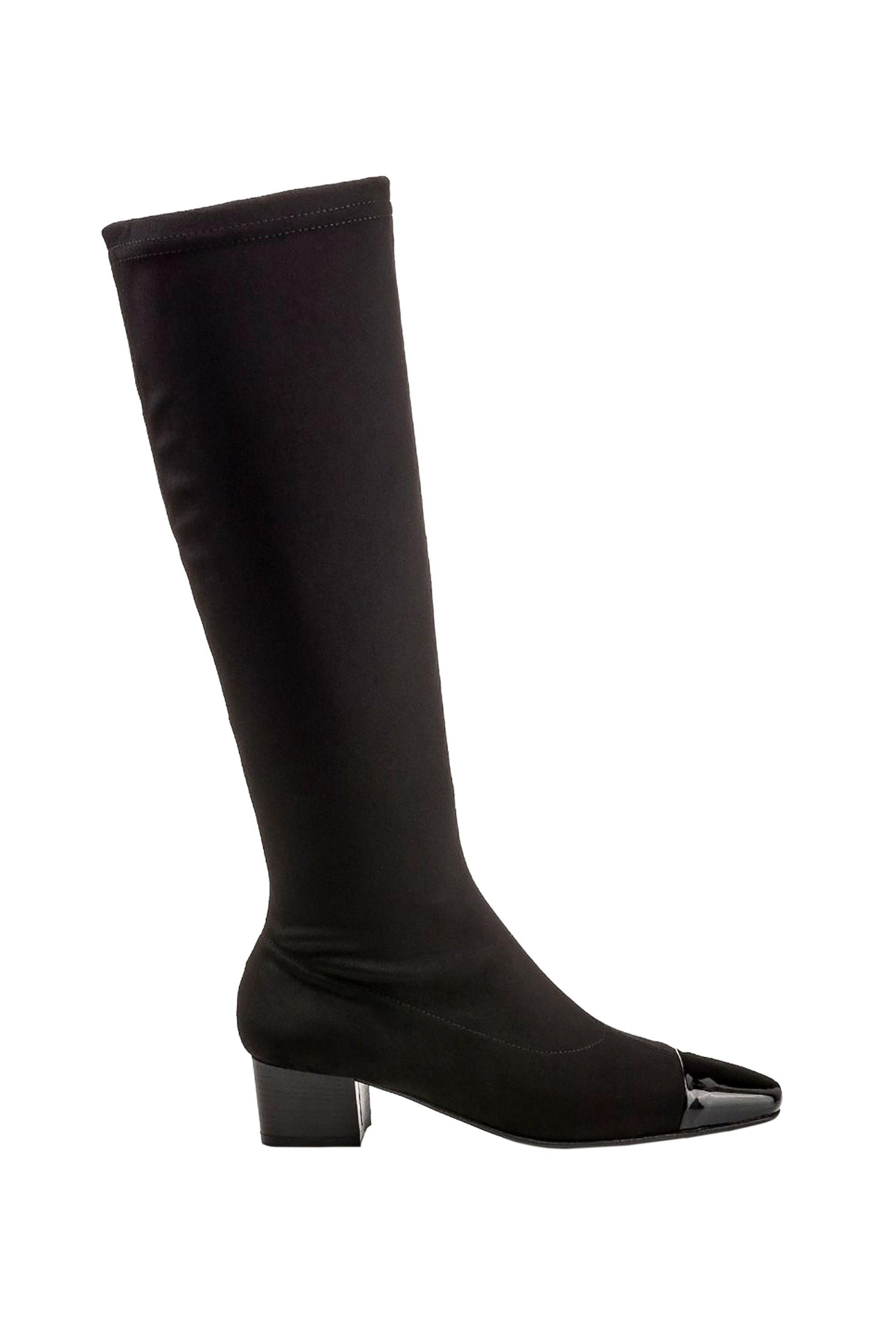 NAK γυναικείες μπότες με λουστρίνι λεπτομέρεια – 218483-MIKOL – Μαύρο