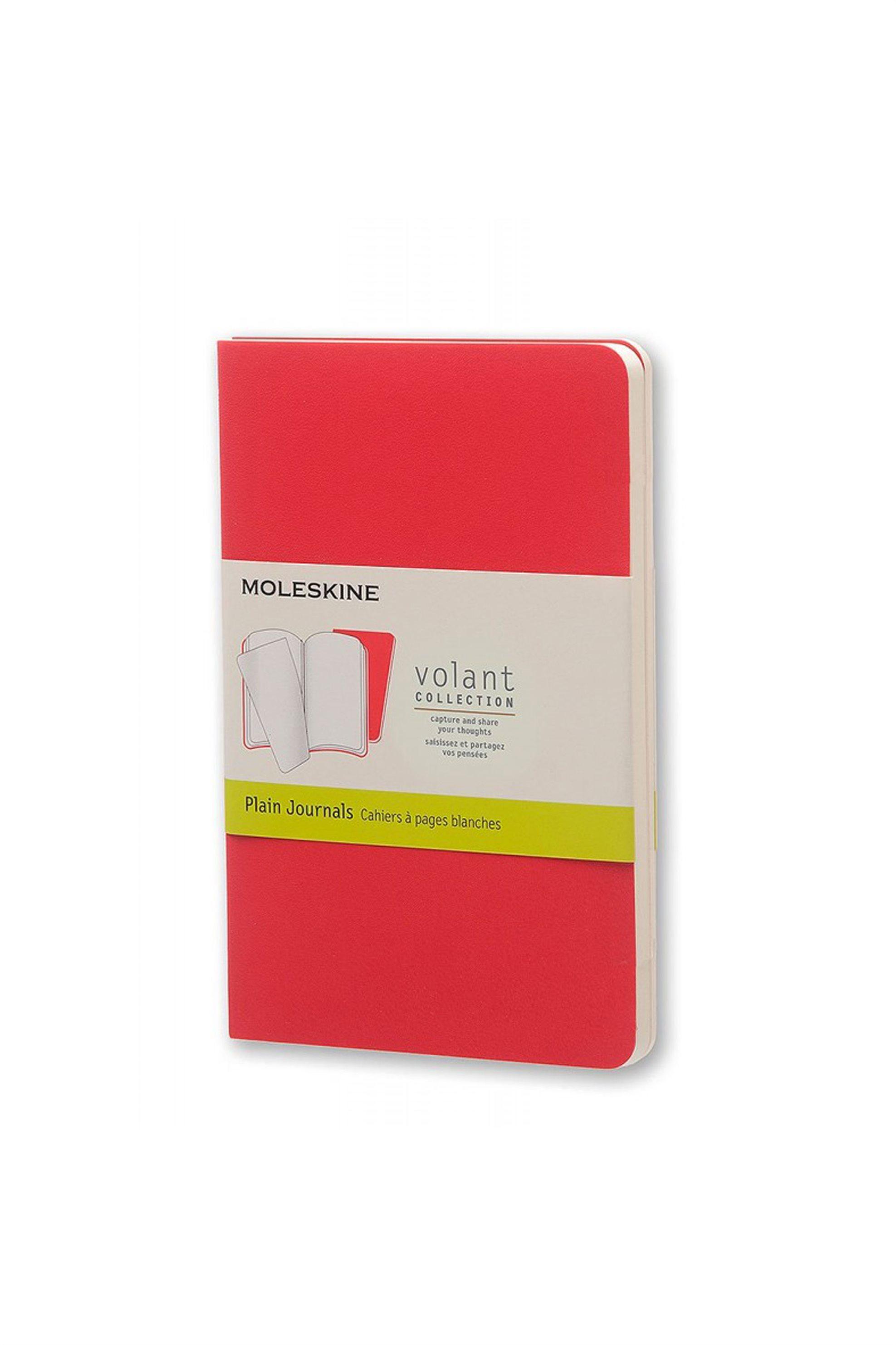 Σημειωματάριο Volant Journal Plain Red - Pocket (2 Τεμάχια) ...