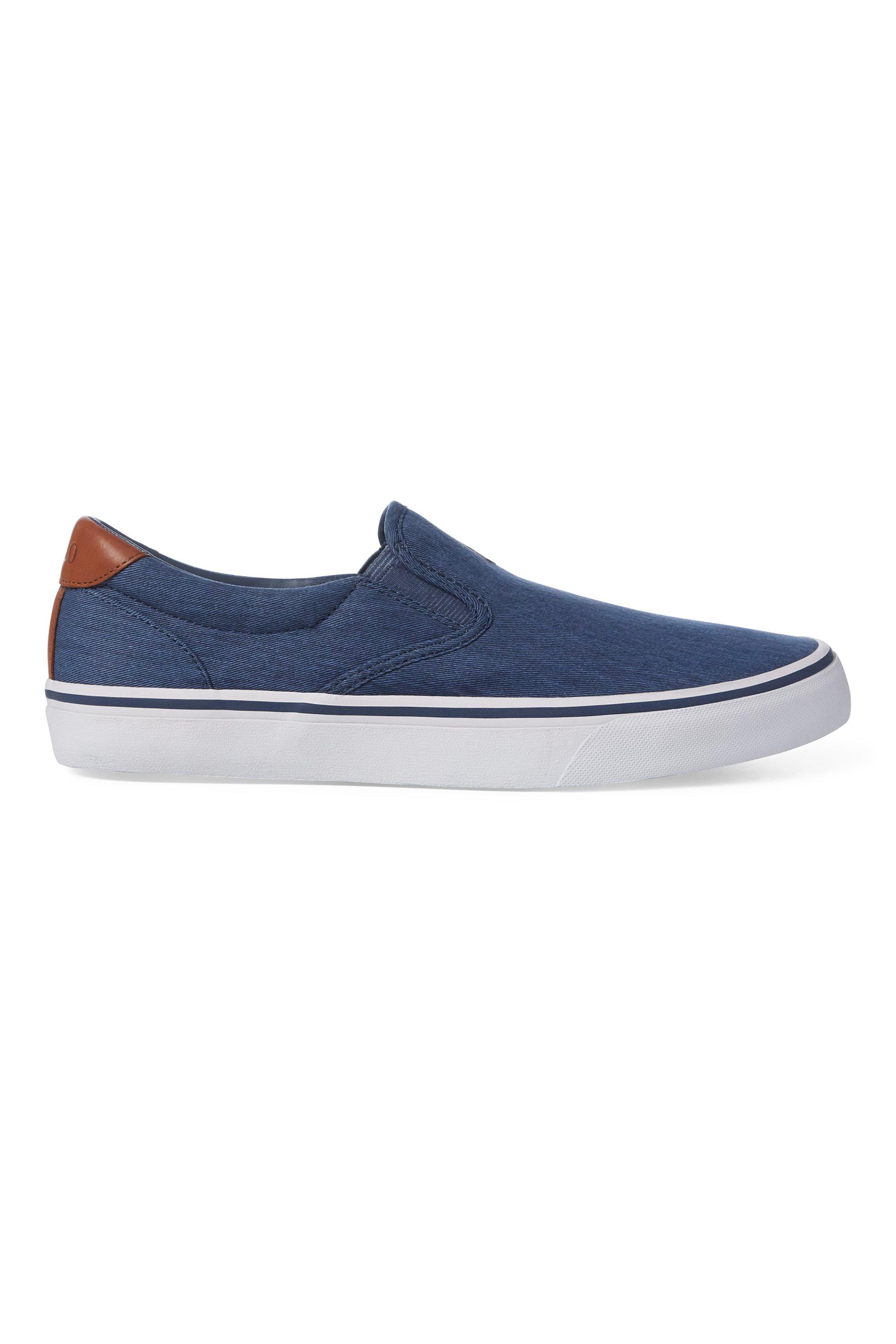 Polo Ralph Lauren ανδρικά sneakers slip-on μονόχρωμα